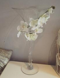 Martini Glasses 50cm High- Available light up in choice of colour scheme or with Flower balls