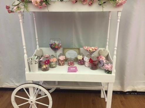 Old traditional Candy Cart