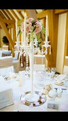 Tall Dressed Candelabras - Inclusive of LED candles - £30 per candelabra
