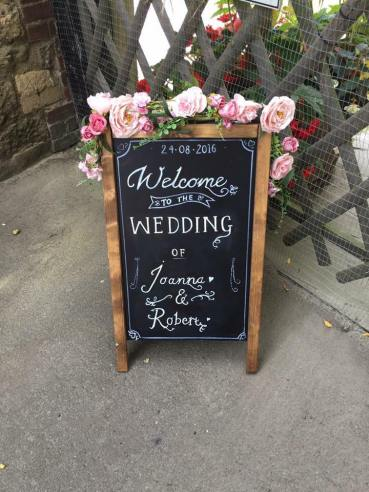 Wedding Welcome Chalkboard sign (Date & Names personalised)